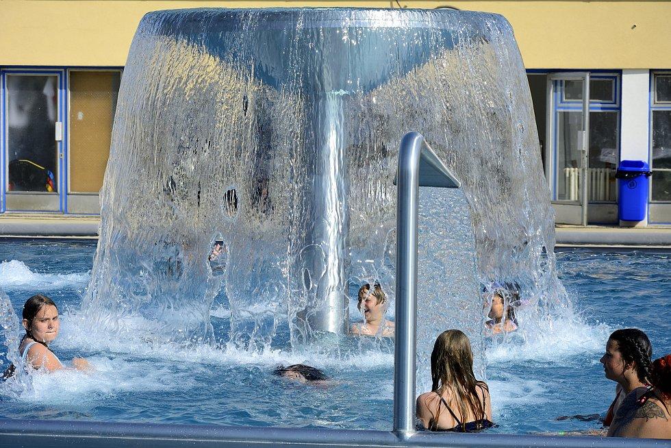 Na koupališti v Berouně.