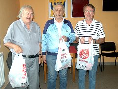 Vyhlášení soutěže se konalo v klubovně hořovického stadionu.