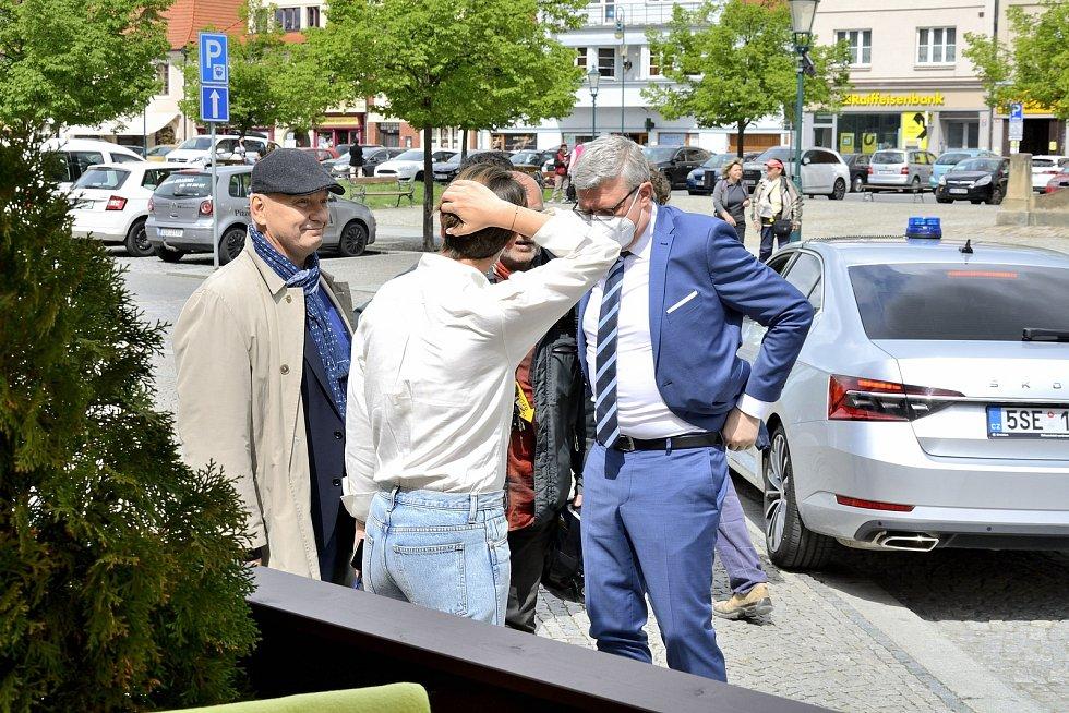 Ministr průmyslu a obchodu Karel Havlíček navštívil Beroun.