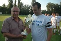 Šutér hořovického fotbalového béčka Tomáš Kaňka na archivním snímku.