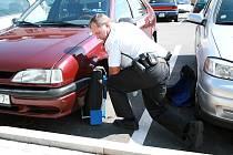 Strážníci a známé botičky v akci