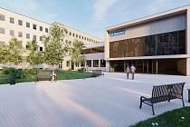 Budoucí podoba nádražní budovy v Berouně a jejího okolí.