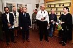 Z vernisáže výstavy fotografií Vladimíra Kasla v Muzeu Českého krasu v Berouně.