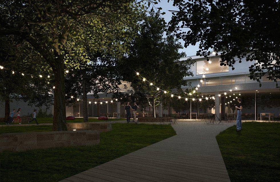 Vizualizace areálu nové soukromé základní školy VIA v Berouně.