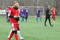 Fotbalista Jakub Balšánek (vlevo) ještě v dresu Králova Dvora.