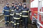 Z činnosti dobrovolných hasičů v Králově Dvoře. Historie sboru se začala psát v září roku 1909.