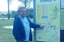 Starosta městyse Karlštejn Petr Rampas.