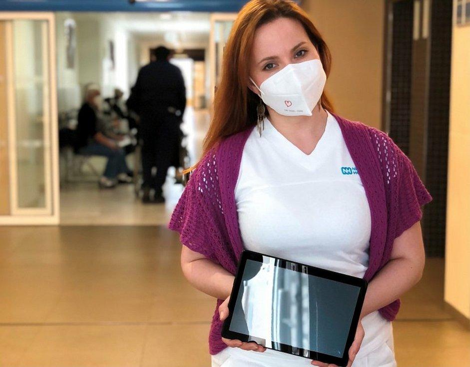 Sociální pracovnice Nemocnice Hořovice a koordinátorka projektu Lada Hýlová.