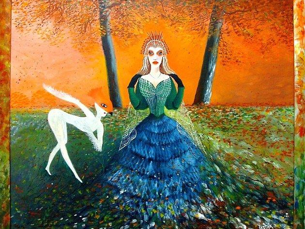 Královna podzimu (olej) 2007