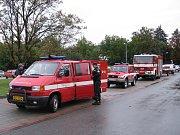 Zasahující hasičský sbor.