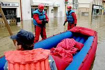 Povodně 2002 - Česká ulice, Beroun