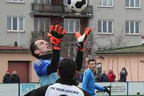 Brankář Hořovicka Milan Herco.