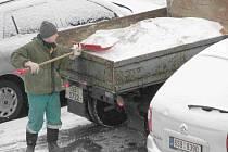 Sníh zasypal Berounsko