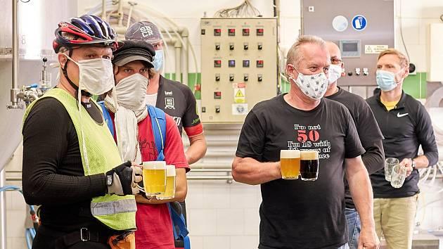 Z pivovaru Matuška v Broumech.