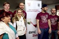 HC Sparta podporuje dárcovství kostní dřeně a registr v IKEM.