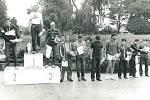 V roce 1984 se konal třetí ročník Žebrácké pětadvacítky. Na fotografii je deset nejlepších běžců v hlavní kategorii.