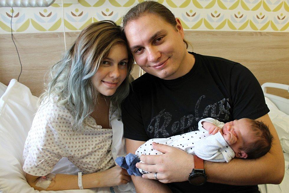 Prvním miminkem Berounska je Heliodor Sýkora. Rodina přesto žije v Rokycanech.