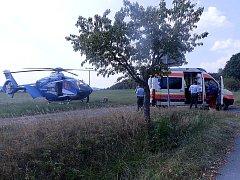K dvouletému dítěti do Všeradic byl přivolaný vrtulník