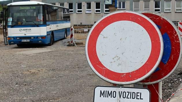 Výstavba nového berounského autobusového nádraží.