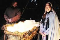 V Otročiněvsi byl živý betlém