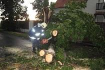 Středeční vichřice a bouřka napáchaly značné škody. Její následky odklízeli také dobrovolníci Osova