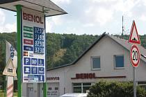 Srovnání čerpacích stanic na Berounsku. BENOL Nižbor