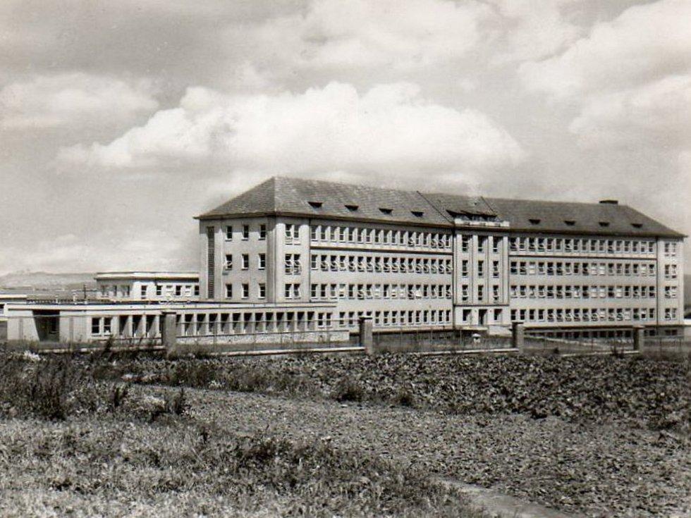 Hořovická nemocnice v 50. letech 20. století.