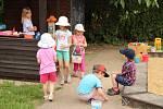 Katolická mateřská škola v Berouně: děti využívají i zahradu.