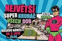 Pozvánka na Největší super kruháč všech dob na Husově náměstí v Berouně.
