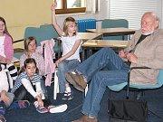 Jiří Kahoun besedoval s dětmi
