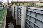 Kontrola protipovodňového systému v Berouně.