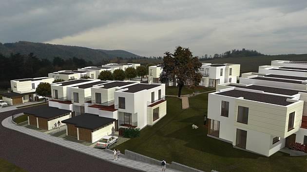 Vilová čtvrť Hřebenka, která je opět unikátním projektem, je umístěna mezi předměstím Počaply a obcí Levín