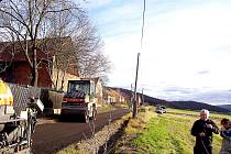 Oprava silnice v Lážovičkách