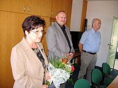 Starosta Hořovic Jiří Peřina (uprostřed) se zúčastnil setkání v Domově Na Výsluní
