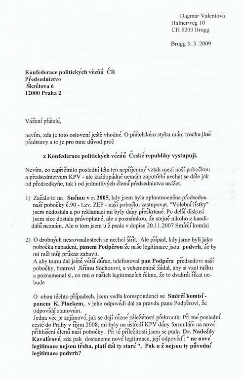 dopis Valentové