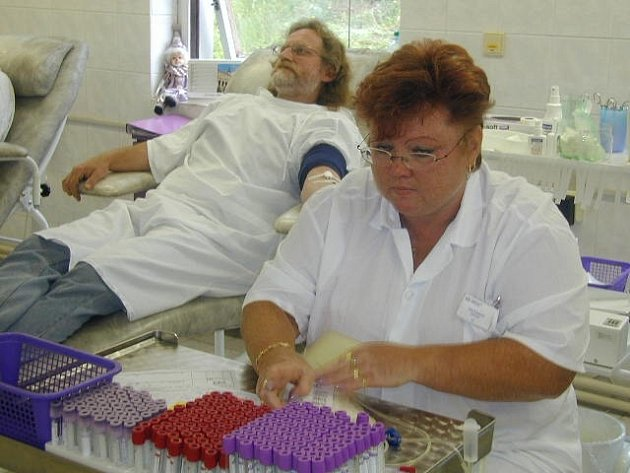 Transfuzní oddělení hořovické nemocnice má širokou základnu dárců.