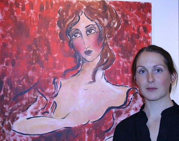 V Holandském domě vystavuje nadějná malířka