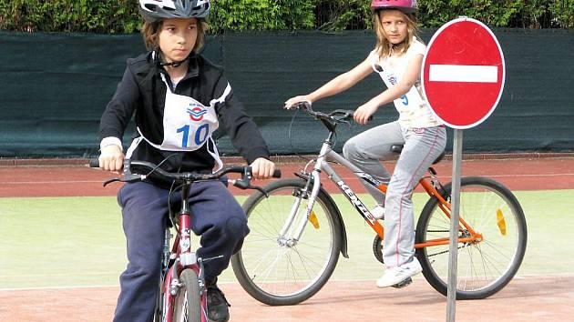 Soutěž mladých cyklistů v Berouně