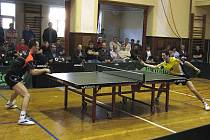 Stolní tenisté Sokola Králův Dvůr porazili v pátém extraligovém semifinále Mokré Lazce 3:1