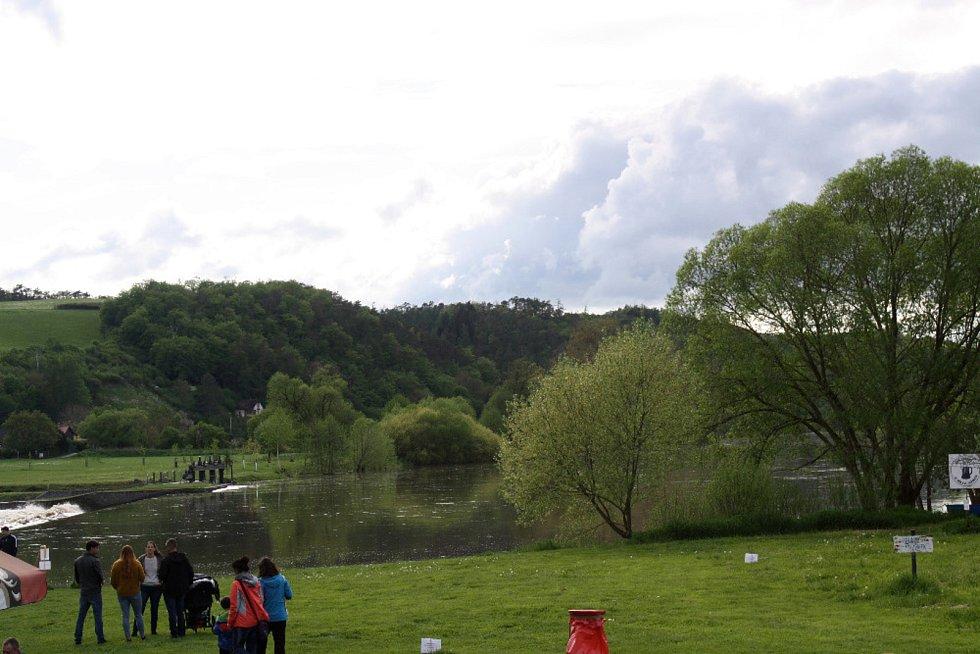 Stav Berounky v sobotu 15. května 2021 odpoledne.
