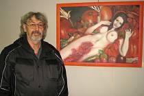 VÁCLAV Šesták patří mezi regionální výtvarníky, kteří vystavují svá díla v hořovickém Labi.