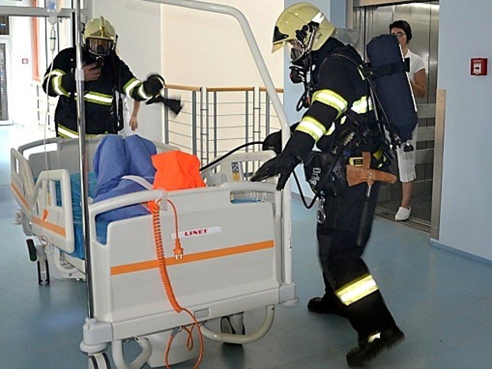 Cvičení v hořovické nemocnici neslo název Požár