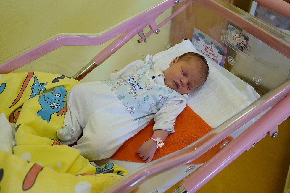 Anežka Mládková se manželům Ivetě a Hynkovi narodila v benešovské nemocnici 9. července 2021 v 16.02 hodin, vážila 3720 gramů. Doma v Kácově Lhotě na ni čekaly sestřičky Rozálie (8) a Mariana (6).