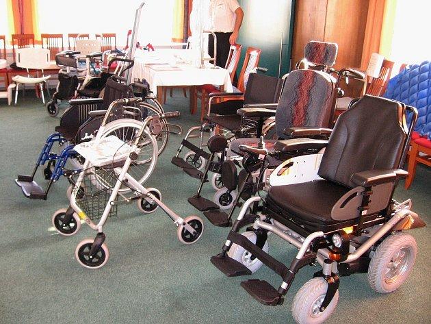 Na výstavě bylo nejvíce invalidních vozíků