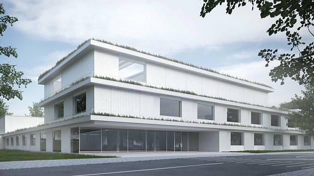 Vizualizace areálu soukromé základní školy VIA v Berouně.