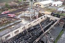 Požár pily ve Zdicích