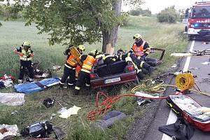 Tragická dopravní nehoda u Bítova.
