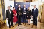 Zleva: Eduard Kučera (Avast Software), Radka Prokopová (Alca plast), Jan Fidler (SEBRE Holding), Vít Kutnar (DEK, a.s.), Magdalena Souček (EY), Zdeněk Hřib (primátor hl. města Prahy)