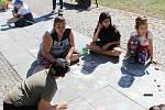 Setkání u příležitosti Dne Země na Husově náměstí v Berouně.