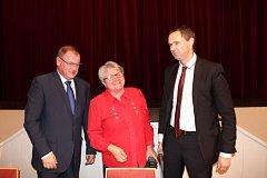 Starostkou města se stala Soňa Chalupová za ODS (uprostřed) a místostarosty jsou Michal Mišina za ANO (vlevo) a Dušan Tomčo (Nezávislí Berouňáci).